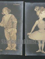 Карикатуры на артистов балета
